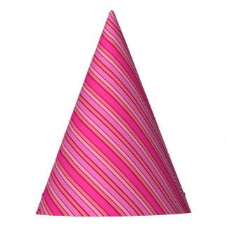 Chapéu De Festa Listras cor-de-rosa
