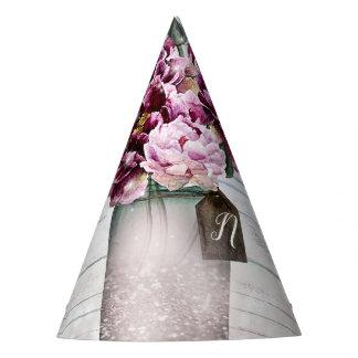 Chapéu De Festa Madeira do encanto & flores rústicas do frasco de