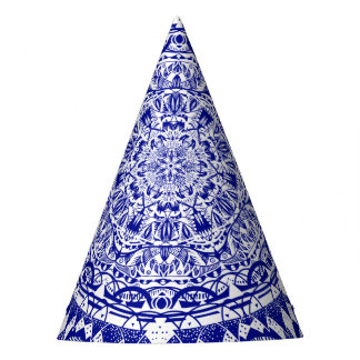 Chapéu De Festa Mandala azul escuro de Mehndi