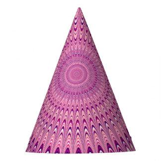 Chapéu De Festa Mandala cor-de-rosa da estrela