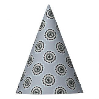 Chapéu De Festa Mandala preta e azul