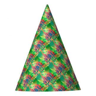 Chapéu De Festa Mar do verde com sucatas do abstrato do Cubist