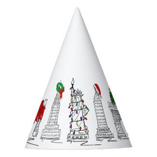 Chapéu De Festa Marcos do feriado do Natal NYC da Nova Iorque