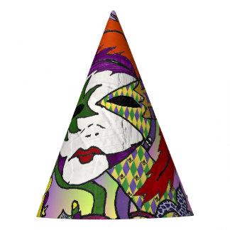 Chapéu De Festa Máscara psicadélico da pena do carnaval