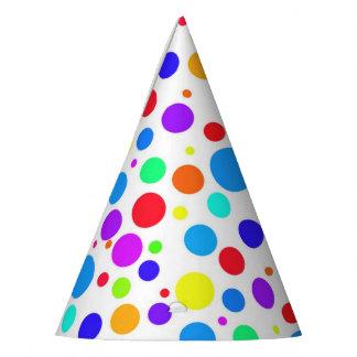 Chapéu De Festa Multi pontos coloridos do divertimento