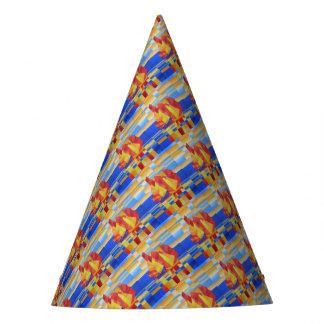 Chapéu De Festa Navigação no abstrato tão azul do Cubist de sete