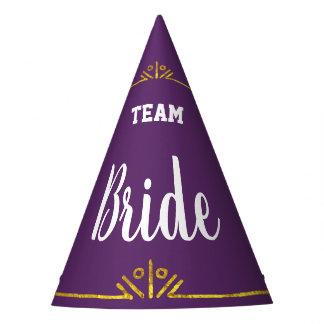 Chapéu De Festa Noiva da equipe alguma cor feita sob encomenda com
