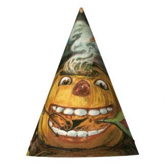 Chapéu De Festa O Dia das Bruxas antiquado, abóbora & diabos