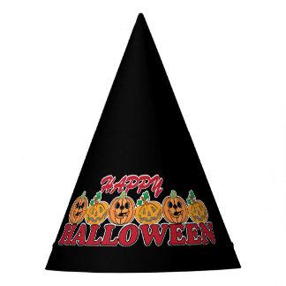 Chapéu De Festa O Dia das Bruxas feliz com fileira de abóboras