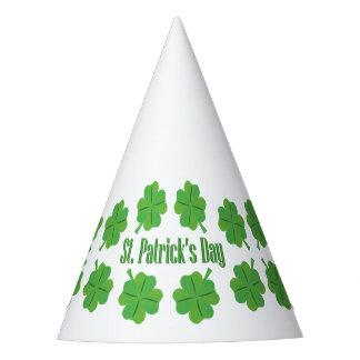 Chapéu De Festa O dia de St Patrick com trevo