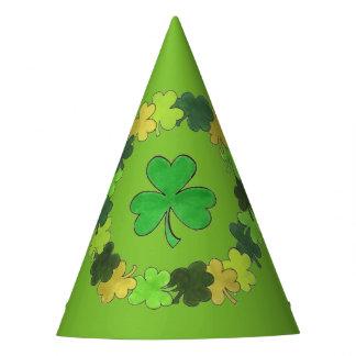 Chapéu De Festa O dia de St Patrick verde irlandês do trevo do