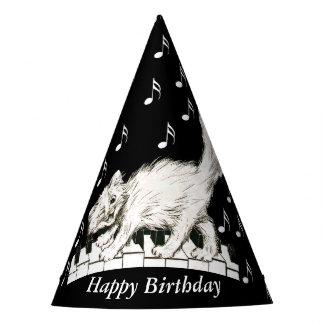 Chapéu De Festa O gato do aniversário do divertimento no piano