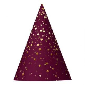 Chapéu De Festa O pequeno ouro Stars a baga da Chapéu-Ameixa do
