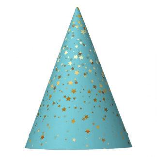 Chapéu De Festa O pequeno ouro Stars o azul do ovo dos
