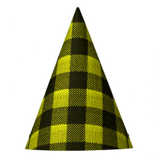 Chapéu De Festa Olhar Checkered de serapilheira do teste padrão do