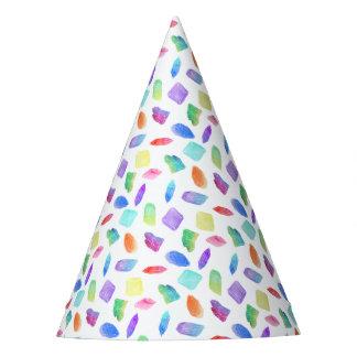 Chapéu De Festa Pedra de gemas de cristal colorida dos cristais