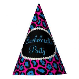 Chapéu De Festa Pérolas cor-de-rosa/azuis do impressão do