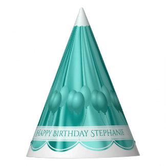 Chapéu De Festa Personalize Scallops do aniversário do cetim do