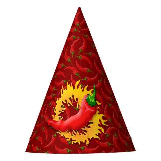 Chapéu De Festa Pimenta de pimentão com chama
