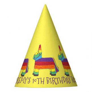 Chapéu De Festa Pinata personalizado do arco-íris do favor de