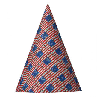 Chapéu De Festa Pintura vestida rachada patriótica da bandeira