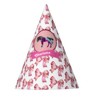 Chapéu De Festa Pônei moderno cor-de-rosa bonito personalizado