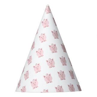 Chapéu De Festa Porco cor-de-rosa surpreendido bonito