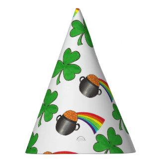 Chapéu De Festa Pote do dia de St Patrick do trevo do arco-íris do