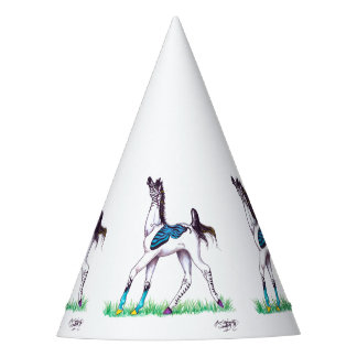 Chapéu De Festa Potro do pônei do cavalo da borboleta