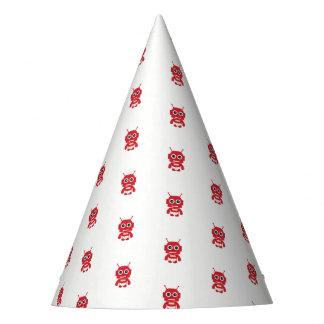 Chapéu De Festa Pouco robô retro vermelho