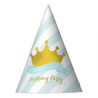 Chapéu De Festa Princesa Aniversário da tiara da hortelã e do ouro