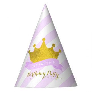 Chapéu De Festa Princesa Aniversário da tiara da lavanda e do ouro