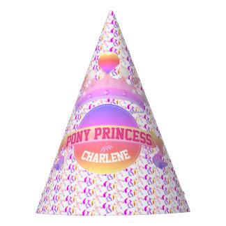 Chapéu De Festa Princesa cor-de-rosa e roxa do pônei