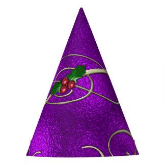 Chapéu De Festa Redemoinhos românticos do Natal do Lilac