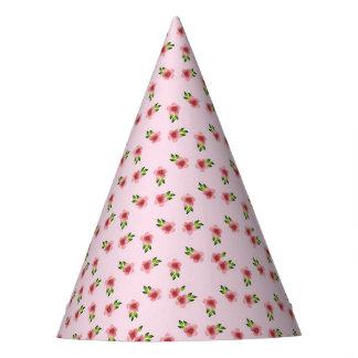 Chapéu De Festa Rosa floral