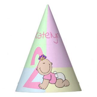 Chapéu De Festa Segundo aniversário bonito do bebé dos desenhos