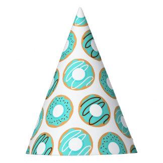 Chapéu De Festa Teste padrão azul das rosquinhas