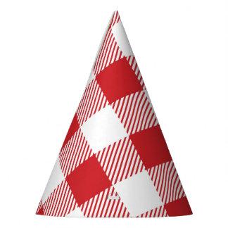 Chapéu De Festa Teste padrão clássico da xadrez da verificação do