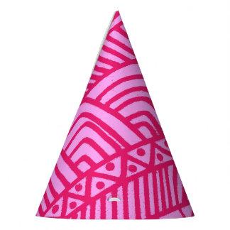 Chapéu De Festa teste padrão cor-de-rosa