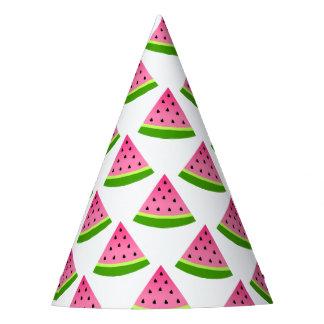 Chapéu De Festa Teste padrão cor-de-rosa da melancia
