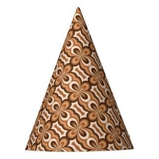 Chapéu De Festa Teste padrão cremoso do chocolate do caramelo