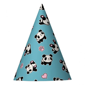 Chapéu De Festa Teste padrão da panda