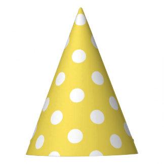 Chapéu De Festa Teste padrão de bolinhas amarelo