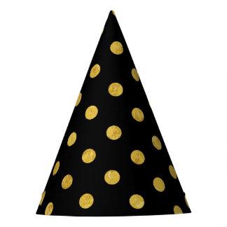 Chapéu De Festa Teste padrão de bolinhas elegante da folha do