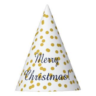 Chapéu De Festa Teste padrão do Natal dos confetes do ouro com