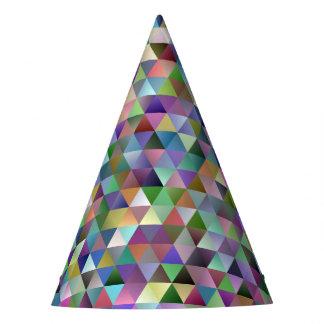Chapéu De Festa Teste padrão feliz do triângulo