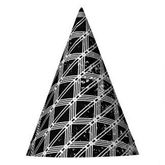 Chapéu De Festa Teste padrão geométrico preto e branco