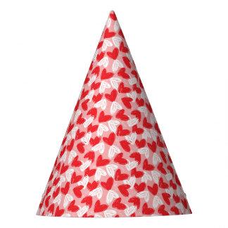 Chapéu De Festa Teste padrão vermelho e branco moderno bonito dos