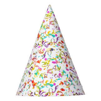 Chapéu De Festa Trabalhos de arte coloridos do lance dos confetes