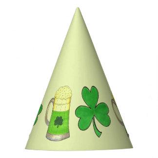 Chapéu De Festa Trevo feliz do verde da cerveja do dia de Patrick